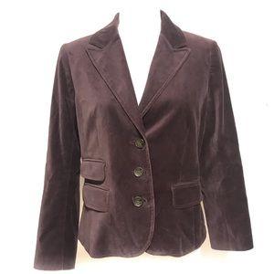 Ann Taylor Loft velvet fitted blazer jacket